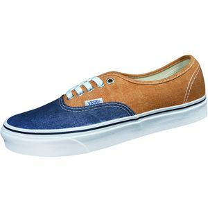 Vans Authentic Herren Casual Sneaker Denim blau orange