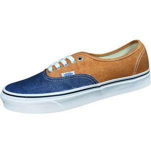 Vans Authentic Herren Casual Sneaker Denim blau orange – Bild 1