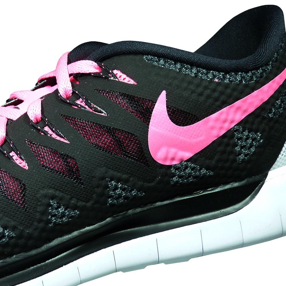 nike wmns free 5 0 damen running sneaker schwarz pink. Black Bedroom Furniture Sets. Home Design Ideas