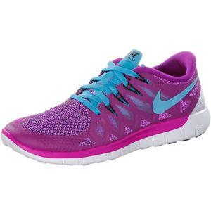 Nike WMNS Free 5.0 Damen Running Sneaker lila türkis