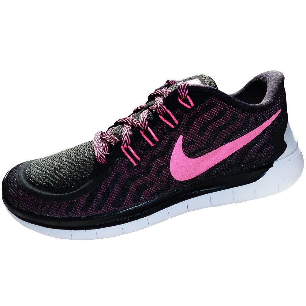 nike free 5 0 damen running sneaker schwarz pink 724383 006. Black Bedroom Furniture Sets. Home Design Ideas