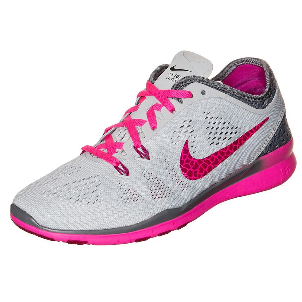 Nike WMNS Free 5.0 TR Fit 5 Damen Laufschuh Sneaker grau pink