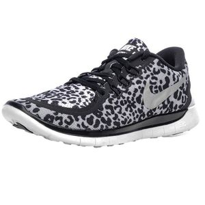 Nike Free 5.0 Print GS Kinder Sneaker Leopardenmuster