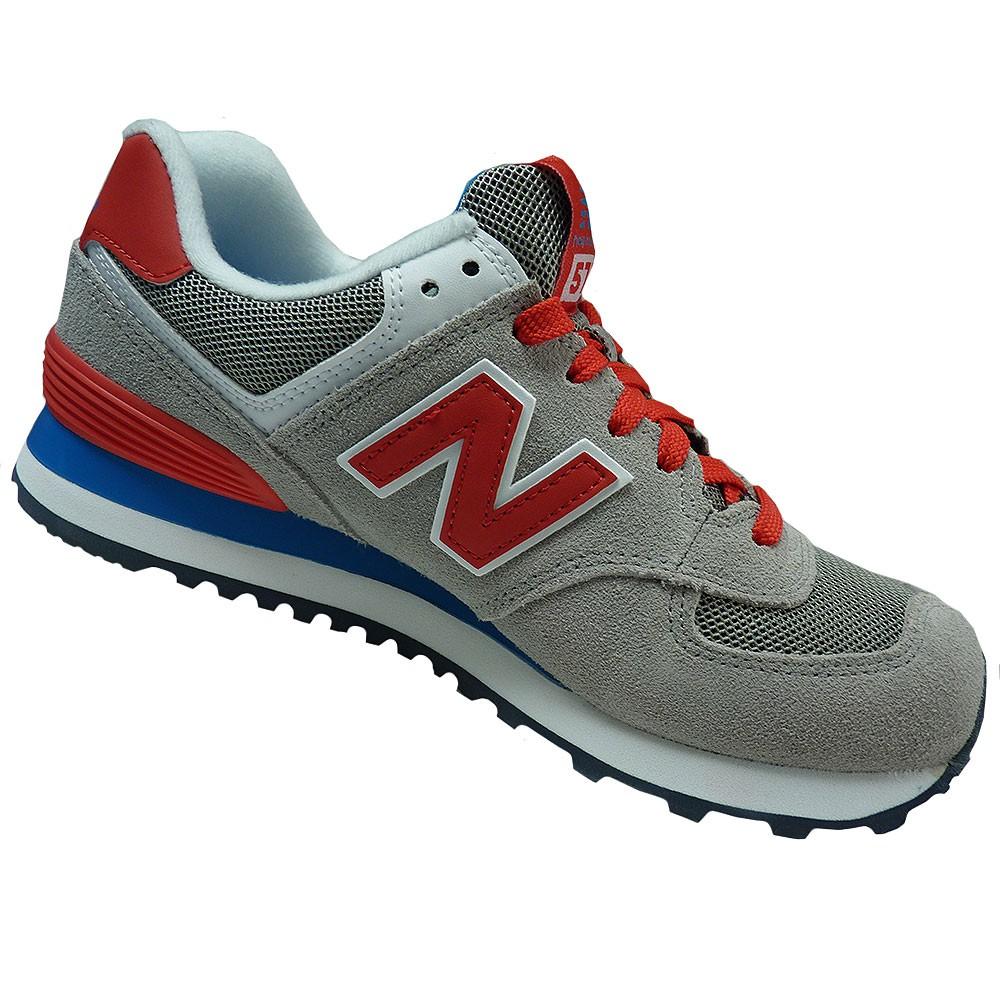 New Balance Schuhe WL574MON Damen Sneaker grau rot