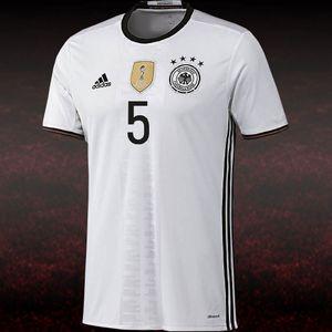 adidas DFB Home Jersey Kinder Heimtrikot EM 2016 Hummels weiß  – Bild 5
