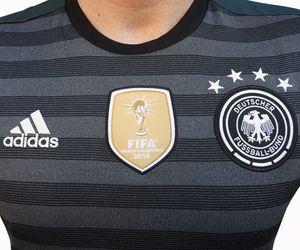 adidas DFB Away Jersey Kinder Auswärtstrikot EM 2016 grau olive  – Bild 2