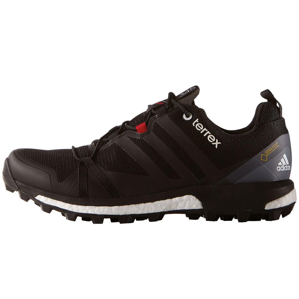 adidas Herren Terrex Agravic GTX Trekking & Wanderhalbschuhe, Schwarz, 50.7 EU