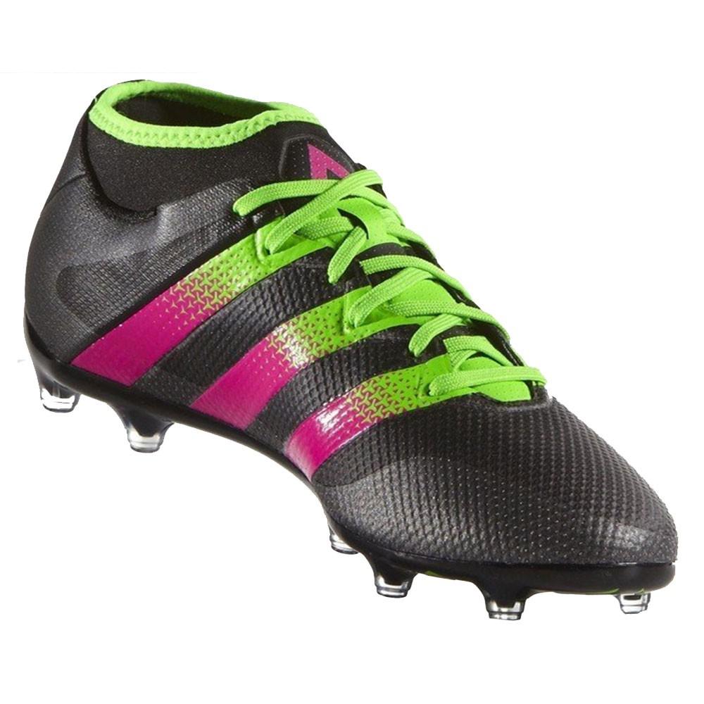 adidas ACE 16.2 Primemesh FG/AG Herren Fußballschuh schwarz grün pink ...