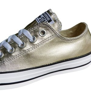 Converse CT OX Chuck Taylor All Star gold metallic weiß – Bild 3