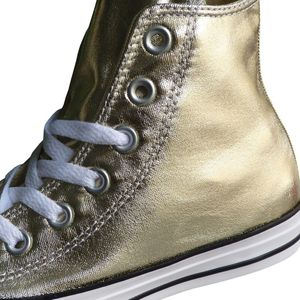 Converse CT Hi Chuck Taylor All Star gold metallic weiß – Bild 3