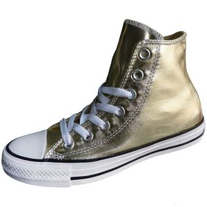 Converse CT Hi Chuck Taylor All Star gold metallic weiß