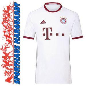 adidas FC Bayern Champions League Kinder Trikot 16/17 weiß weinrot – Bild 3