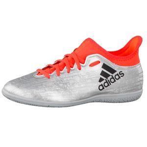 adidas X 16.3 IN J Kinder Fußballschuh silber neon rot – Bild 1