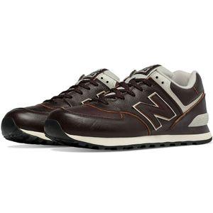 New Balance ML574LUA Herren Sneaker braun Leder – Bild 2