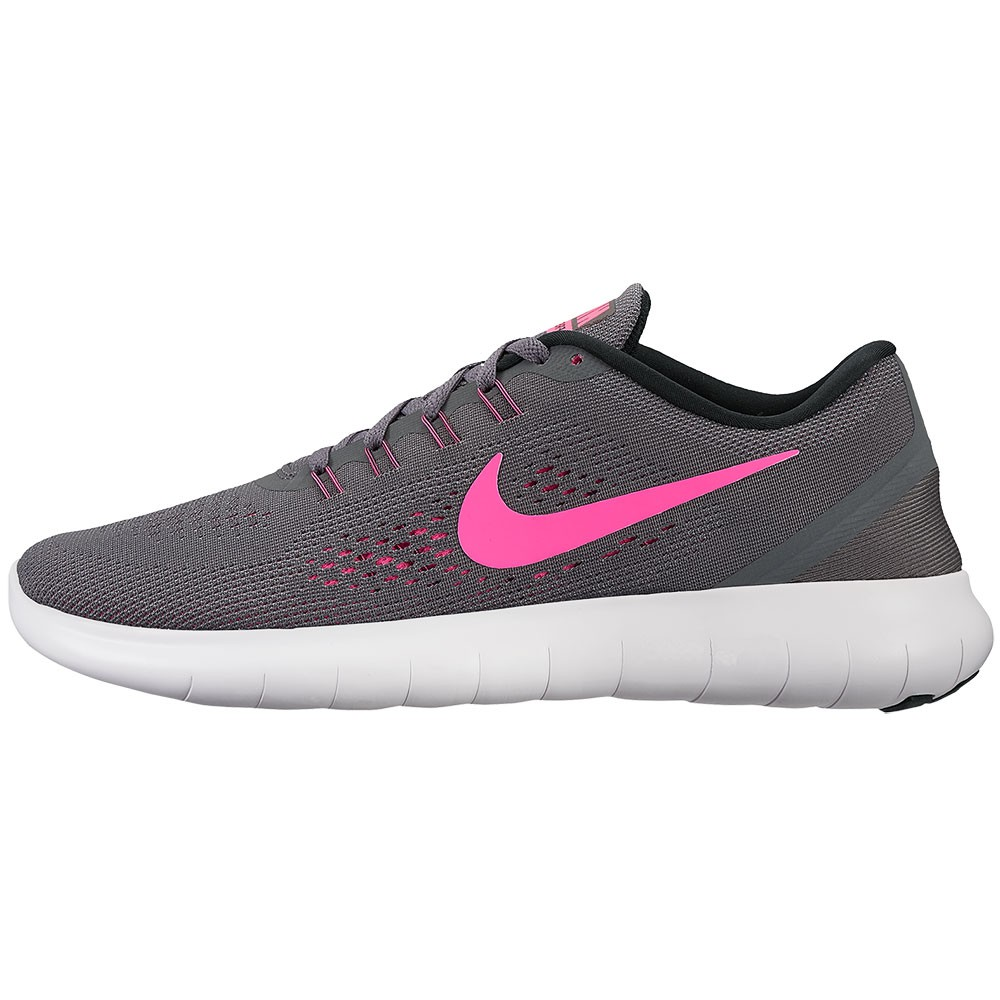 nike wmns free rn damen sneaker grau pink. Black Bedroom Furniture Sets. Home Design Ideas