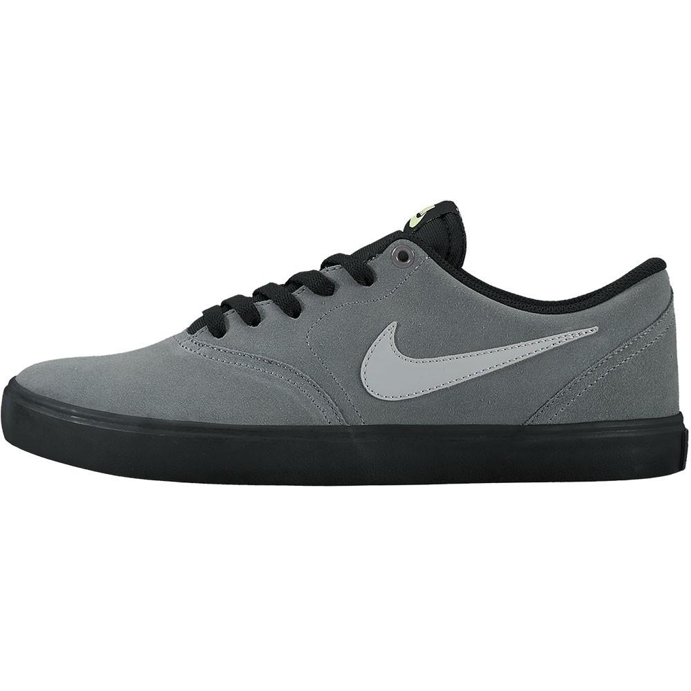 22c84502e711e2 Nike SB Check Solar Herren Sneaker Skateschuh grau schwarz