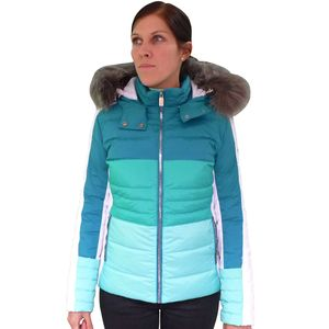 West Scout Real Down Ski Jacket Skijacke Damen türkis weiß – Bild 1