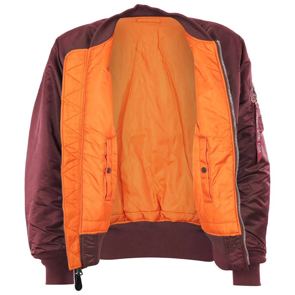 the best attitude afba8 19d02 Alpha Industries MA-1 Bomberjacke Fliegerjacke burgundy
