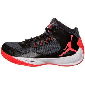 Nike Jordan Rising High 2 Basketball Sneaker schwarz rot – Bild 1