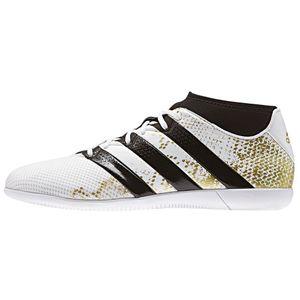 adidas ACE 16.3 PrimeMesh IN J Kinder Fußballschuh weiß gold – Bild 1