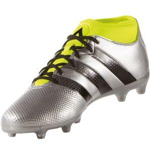 adidas ACE 16.3 PrimeMesh FG/AG Fußballschuh silber neon – Bild 2