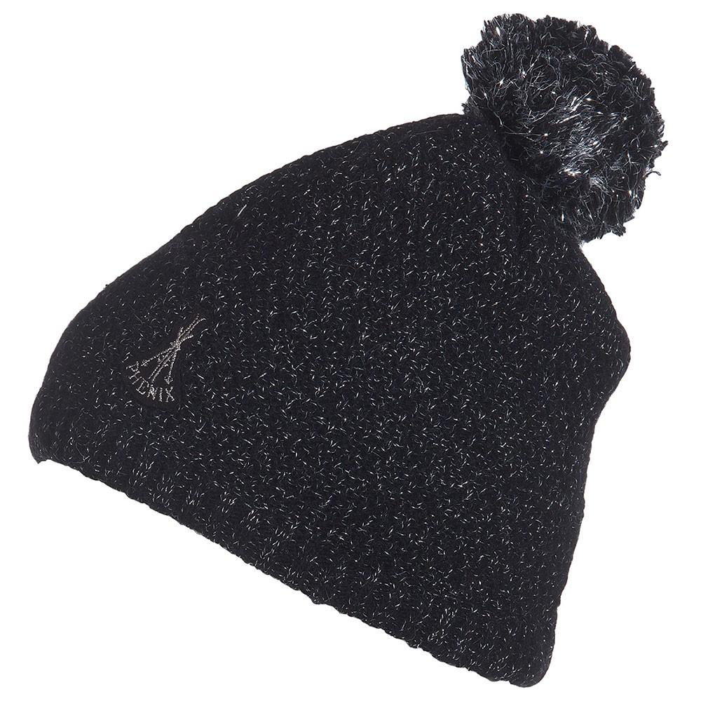 Phenix Rose Knit Hat Damen Skimütze Bommel schwarz