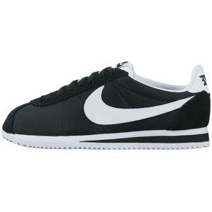 Nike WMNS Classic Cortez Nylon Sneaker schwarz weiß – Bild 1