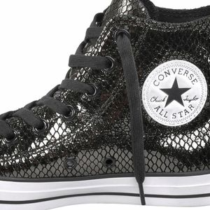 Converse CT AS HI Chuck Taylor All Star metallic schwarz – Bild 3