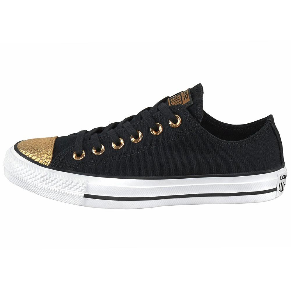 converse ct ox chuck taylor all star schwarz gold metallic. Black Bedroom Furniture Sets. Home Design Ideas