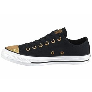 Converse CT OX Chuck Taylor All Star schwarz gold metallic – Bild 2