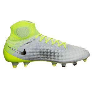 Nike Magista Obra II FG Herren Fußballschuh weiß neon gelb – Bild 2