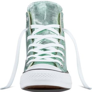 Converse CT AS HI Chuck Taylor All Star metallic grün – Bild 3