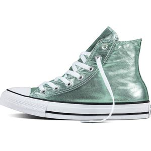 Converse CT AS HI Chuck Taylor All Star metallic grün – Bild 1