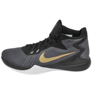 Nike Zoom Evidence Herren Basketballschuh grau gold schwarz – Bild 1