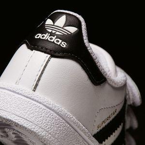 adidas Superstar Foundation CF I Kinder Sneaker weiß Klett – Bild 8