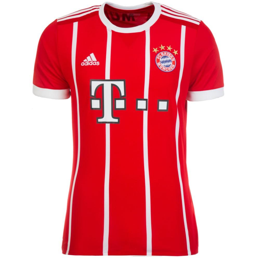 adidas FC Bayern München Home Jersey Trikot Herren rot weiß 17/18