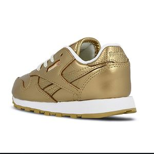 Reebok Classic Leather Metallic Kleinkinder Sneaker gold – Bild 4