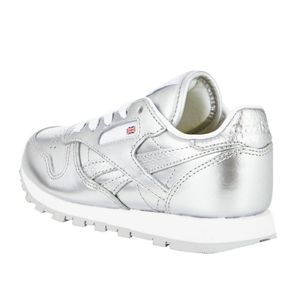 Reebok Classic Leather Metallic Kinder Sneaker silber – Bild 3