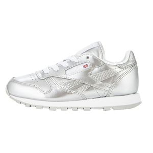 Reebok Classic Leather Metallic Kinder Sneaker silber – Bild 1