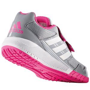 adidas AltaRun CF K Kinderschuh Klettverschluss grau pink – Bild 3