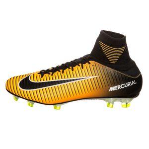 Nike Mercurial Veloce III DF FG Fußballschuh orange schwarz