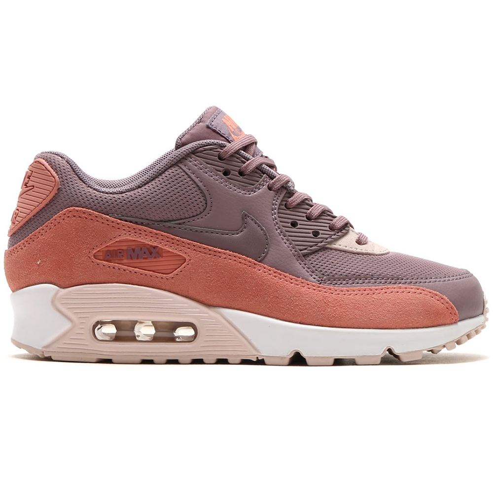 nike wmns air max 90 damen sneaker red stardust taupe. Black Bedroom Furniture Sets. Home Design Ideas