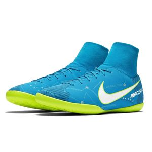 Nike JR Mercurial X Victory VI DF NJR IC Fussballschuh blau weiß gelb  – Bild 2