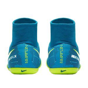Nike JR Mercurial X Victory VI DF NJR IC Fussballschuh blau weiß gelb  – Bild 3