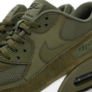 Nike Air Max 90 Essential Herren Sneaker oliv grün weiß – Bild 3