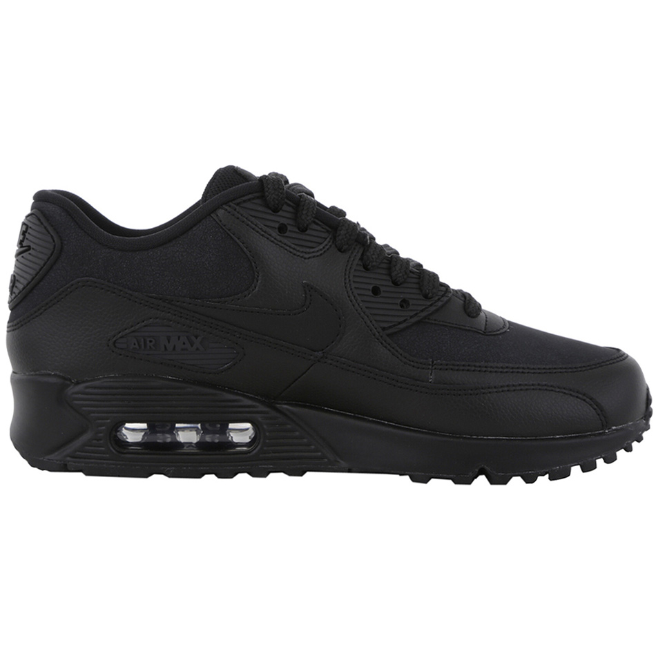 0fe9446b9af4e0 Nike WMNS Air Max 90 Leather Damen Sneaker schwarz