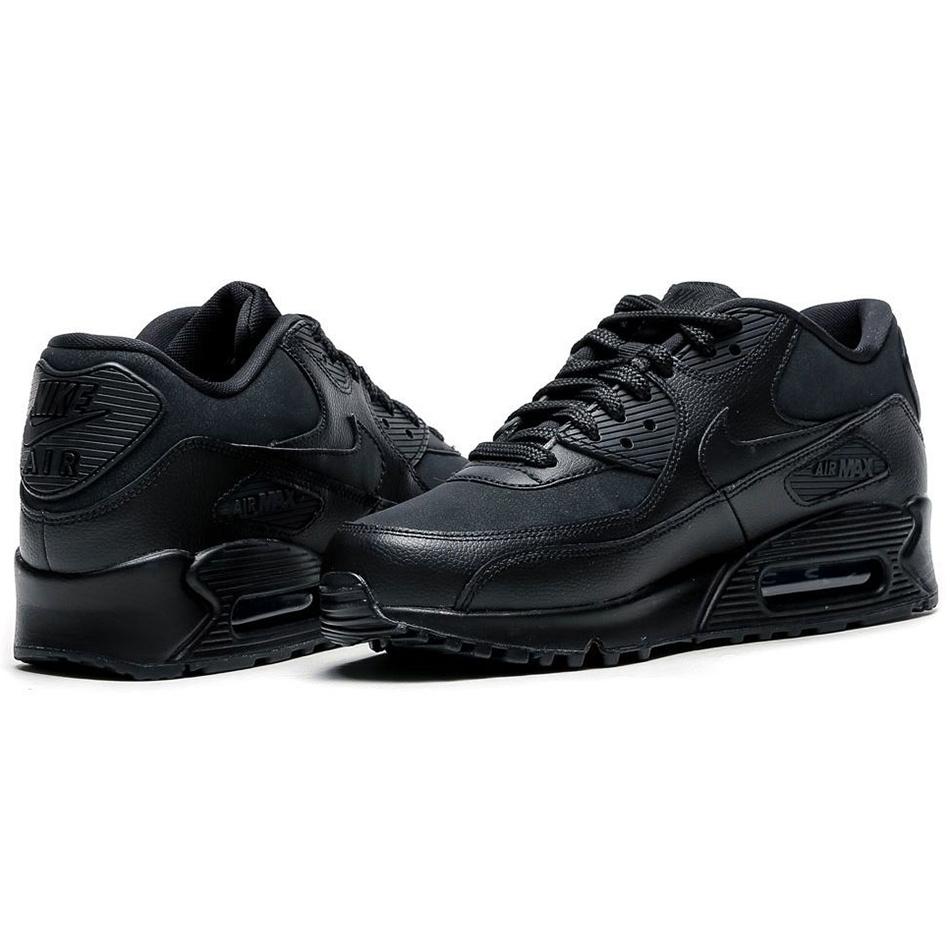 nike wmns air max 90 leather damen sneaker schwarz. Black Bedroom Furniture Sets. Home Design Ideas