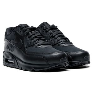 Nike WMNS Air Max 90 Leather Damen Sneaker schwarz – Bild 3