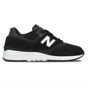 New Balance ML597AAC Herren Sneaker schwarz weiß   – Bild 1