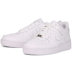 Nike Air Force 1 GS Damen & Kinder Sneaker weiß – Bild 3